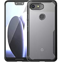 Olixar Google Pixel 3 XL Bumper Case - Hard Tough Cover - Shock Protection - Slim Clear Design - Wireless Charging Compatible - NovaShield - Black