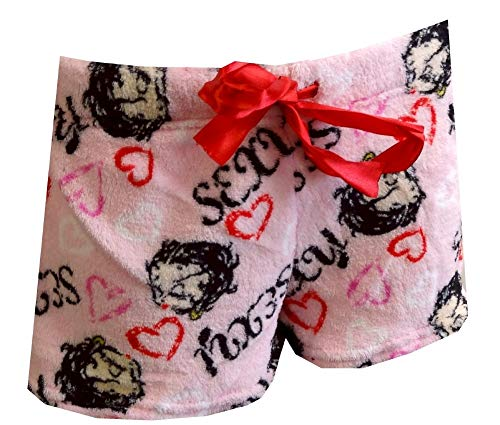 inking Pink Plush Sleep Shorts (Large) ()