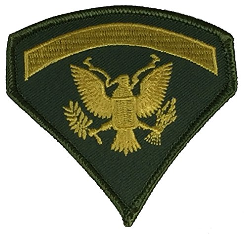 U.S. ARMY SPECIALIST E-5 SPEC-5 RANK TAB PATCH - COLOR - Veteran Owned Business