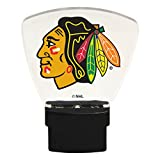Authentic Street Signs NHL Officially Licensed-LED NIGHT LIGHT-Super Energy Efficient-Prime Power Saving 0.5 watt, Plug In-Great Sports Fan gift for Adults-Babies-Kids Room … (Chicago Blackhawks)