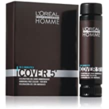 Loreal Professionnel Homme Cover 5 Hair Colour Gel - 3 Dark Brown by Unknown