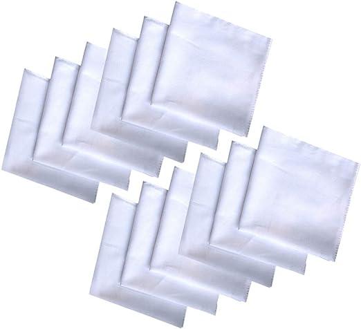 TOPBATHY 12 Piezas 100% algodón para Hombre pañuelo DIY Pintura ...