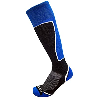 Ultimate Socks Mens Midweight Merino Wool Ski Snowboard Warm Socks: Clothing