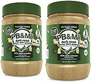 PB&Me Dark Roast Powdered Peanut Butter, No Sugar Added, 2 Pack (1 lb), 2 C