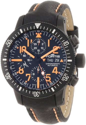 Fortis Men's 638.28.13 L.13 B-42 Black Mars 500 Titanium Chronograph Watch