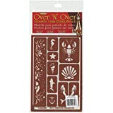 Armour Products Over N Over Glass Etching Stencil, 5-Inch by 8-Inch, Under The Sea