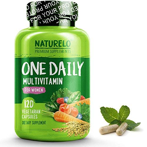 (NATURELO One Daily Multivitamin for Women - Best for Hair, Skin Nails - Natural Energy Support - Whole Food Supplement - Non-GMO - No Soy - Gluten Free - 120 Capsules | 4 Month Supply)