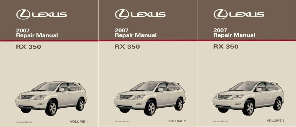 bishko automotive literature 2007 Lexus RX 350 Shop Service Repair Manual Complete Set