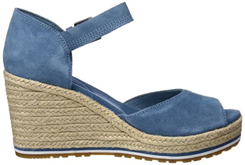 Timberland Nice Coast Suede Strap, Ciabatte Donna Blu (Aegean Blue Suede And Canvas 476)