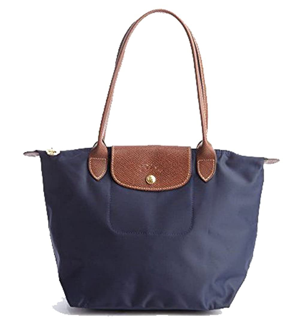 51c562d18ccb Amazon.com  Longchamp Le Pliage Nylon Medium Shoulder Tote in Navy Blue   Shoes