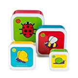 TUM TUM Nesting Children's Snack Boxes, Set of 4, Bugs
