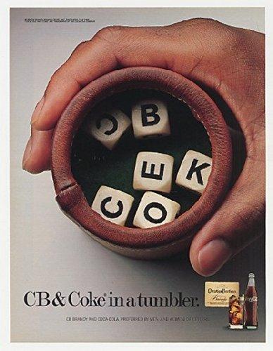 Advertising Tumbler - MAGAZINE AD For 1987 CB & Coke in Tumbler Christian Brothers Brandy