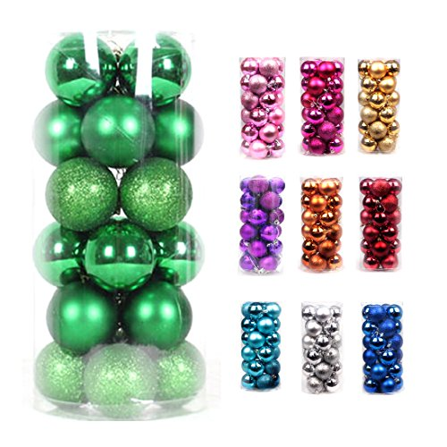 Volumus Christmas Ornaments Balls 24ct Tree Balls 1.57