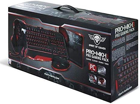 Spirit Of Gamer Pack Pro-mkh3 (Teclado + ratón + Casco + Alfombra de ratón Gamer): Amazon.es: Informática