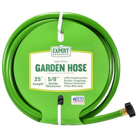 Expert Gardener 25' Light Duty Garden Hose, 5/8 Inside Diameter by Generic