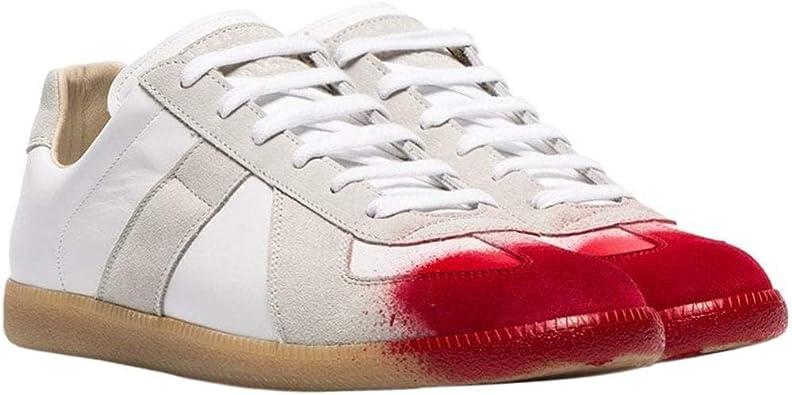 Margiela Maison Margiela Replica Zapatillas de pie pintadas en Rojo Blanco UK 6 White: Amazon.es: Zapatos y complementos