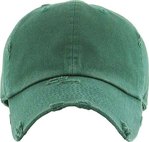 079c24025bb KBETHOS Vintage Washed Distressed Cotton Dad Hat Baseball Cap Adjustable  Polo Trucker Unisex Style Headwear