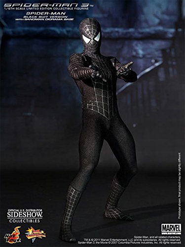 "Hot Toys Spider-Man 3 Spider-Man Black Suit Version 1/6 Scale 12"" Action Figure"