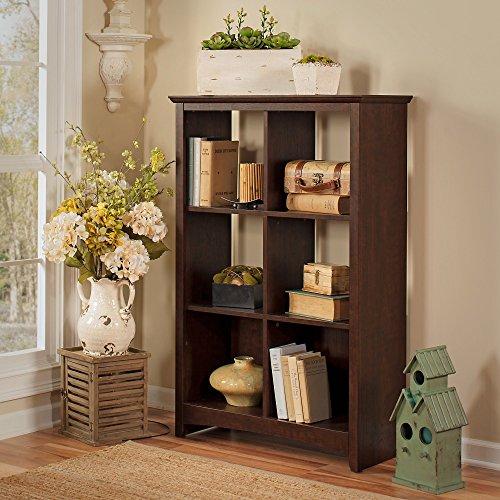 Bush Furniture Buena Vista 6 Cube Bookcase in Madison Cherry