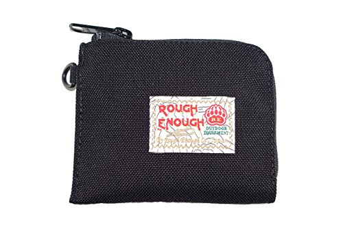 Rough Enough 3 Functional Small Pouch for Coins/credit Card/paper Note Party Pocket (Black)