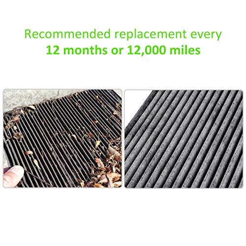 Kootek Cabin Air Filter for CF10134 Honda & Acura, Accord/Odyssey/Pilot/Ridgeline/CSX/ILX/MDX/RDX/TLX/RL//RLX/Civic/Croostour/CR-V Active Carbon Filters Dust Pollen Gases Odors (1 Pack)