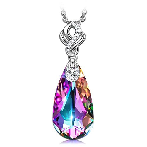f08cc262e070 Kate Lynn Collar Regalo Dia de la Madre. ❤Regalos ❤ Lágrimas de sirena  Mujer Pendientes, Collar [Vendiendo Separado] Cristal de Swarovski Gota de  ...