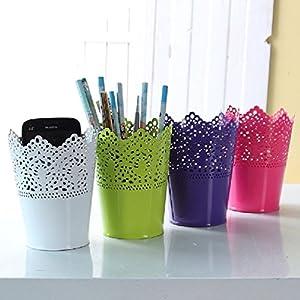 Colorful 712.5cm Metal Iron Flower Pot Artificial Flower Basket Desk Tub 97