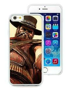 Custom Best Design Erron Black Mortal Kombat X Outworld White TPU iPhone 6(4.7 inch) Case