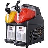VBENLEM Slushy Machine 110V Mini Slush Frozen Drink Machine Commercial Smoothie Maker Slushy Making Machine Suitable for Commercial Use (2.5L*2Tank, Black)