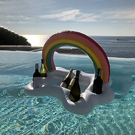 JesseBro76 Rainbow Cloud Portavasos Inflable Piscina Flotador ...