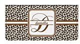 Leopard Print Genuine Leather Checkbook Cover (Personalized)