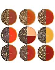 VAHDAM, Chai Tea Sampler - 10 TEAS, 50 Portionen | 100% NATÜRLICHE GEWÜRZE | Indiens ursprüngliche Masala Chai Tees | Brew Hot, Iced oder Chai Latte | Teesortenpaket | Chai Tea Loose Leaf, 100g