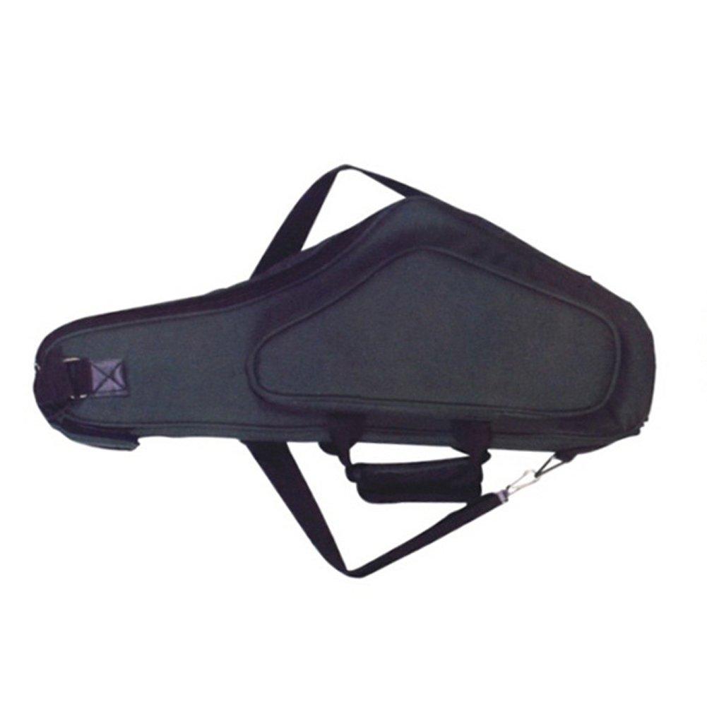 HNYG Alto Saxophone Contoured Case with Water-resistant Oxford Cloth Backpack Adjustable Shoulder Straps A586 Black