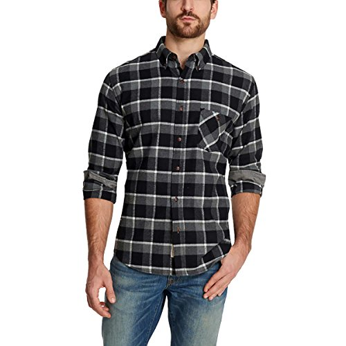 Weatherproof Vintage Men's Flannel Shirt (XL, Black) (Men Vintage Shirts)
