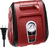 portable air compressor ac dc - CARTMAN AC-120V Heavy Duty Car Air Compressor, Red Color