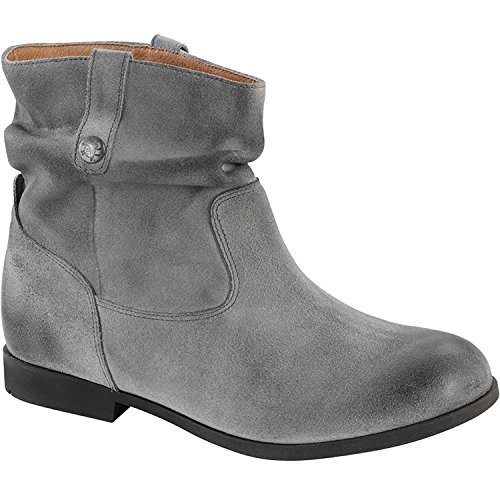 Birkenstock Women's Sarnia Waxed Suede Boot Grey Waxed Suede 36 M EU / 5-5.5 B(M) US