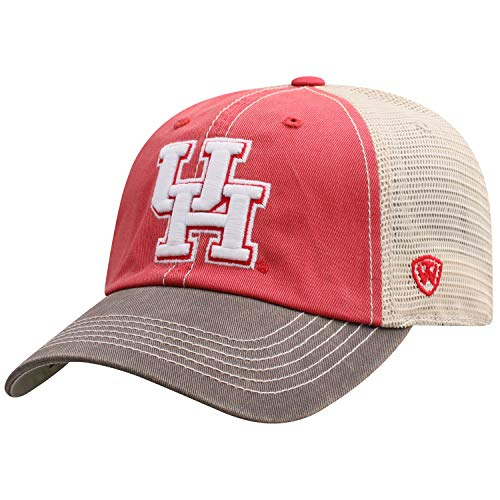 Top of the World Men's Relaxed Fit Adjustable Mesh Offroad Hat Team Color Icon, Houston Cougars Red,]()