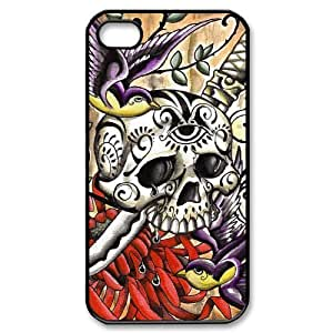 Hard Shell Case Of Artistic Skull Customized Bumper Plastic case For Iphone 4/4s wangjiang maoyi