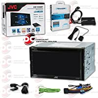 JVC KW-V330BT Double DIN 2DIN 6.8 Touchscreen DVD MP3 Car Stereo Receiver with Bluetooth Android control + SiriusXM Satellite Radio