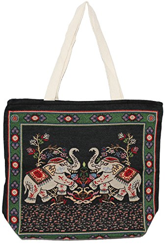 E220 Cute Shoulder Handbag Size Big Tote Handle Bag Hippie Bohemian Elephant Top PxZqH66