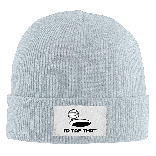 I'd Tap That Costume (Unisex Beanie Hat I'd Tap That GolfSimple Cool Warm Thick Chunky Beanie Hats Oversized)