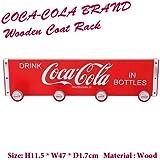 Coca Cola コカコーラ 木製コートラック 並行輸入品
