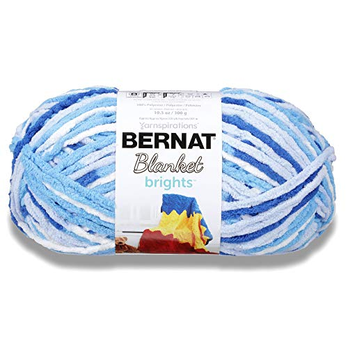 Bernat Blanket Brights Big Ball Yarn-Waterslide Variegated