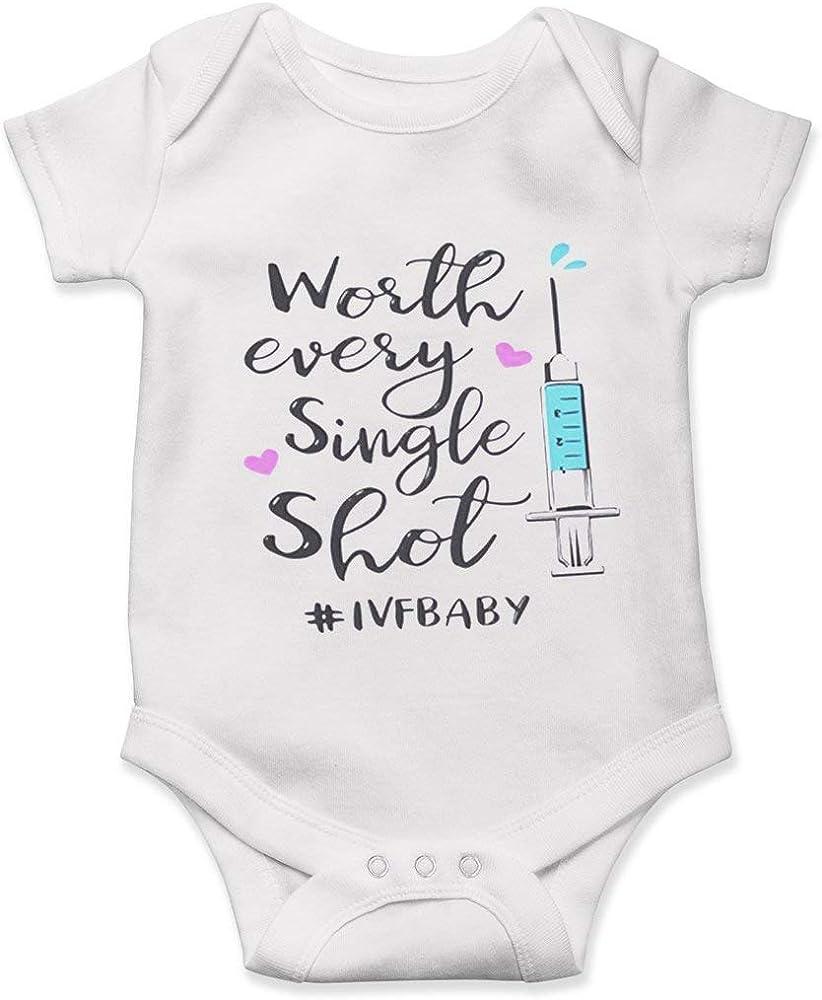 I Survived The Ice Age Onesie Baby Cute in Vitro Fertilization Baby Onesie Lucky Star IVF Onesie