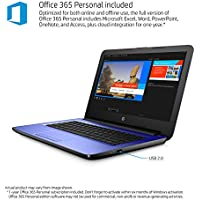 2018 HP Blue 14 HD SVA BrightView LED-Backlit Display High Performance Laptop PC, Intel Celeron Dual-Core Processor 4GB RAM 32GB SSD HDMI Webcam Windows 10 Office 365 Personal 1 Year