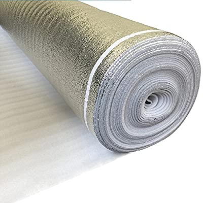 Laminate Flooring UNDERLAYMENT with SILVER Vapor Barrier 3in1 Foam 3mm Thick 200 sq.ft