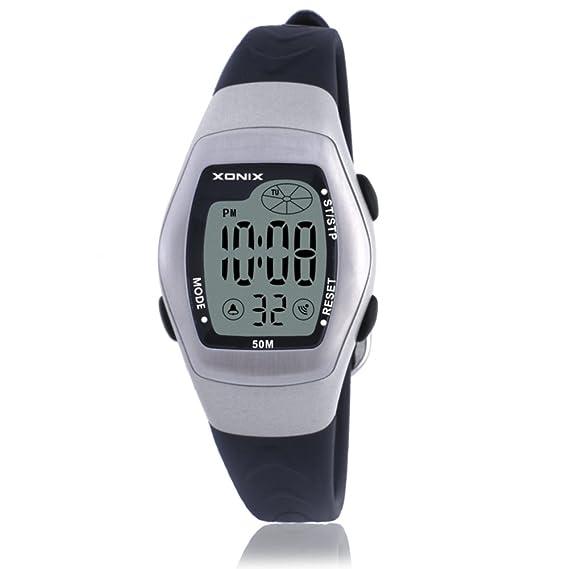 Niños reloj led digital multifunción impermeable natación chica estudiante reloj digital-D: Amazon.es: Relojes
