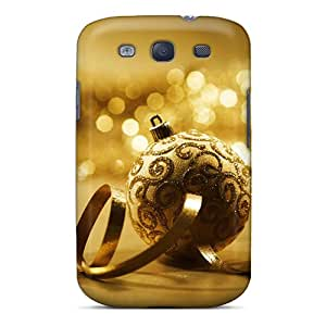 GULXeOj7262RIhLP Marthaeges Awesome Case Cover Compatible With Galaxy S3 - Golden Christmas 2