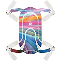 Skin For ZEROTECH Dobby Pocket Drone – Rainbow Waves | MightySkins Protective, Durable, and Unique Vinyl Decal wrap cover | Easy To Apply, Remove, and Change Styles | Made in the USA