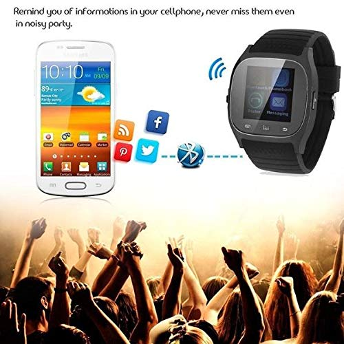 Amazon.com: YIGEYI Latest multilinggual Bluetooth Smart Watch reloj inteligente Fashion for Phone xiaomi Huawei. The Perfect one for You (Color : Black): ...